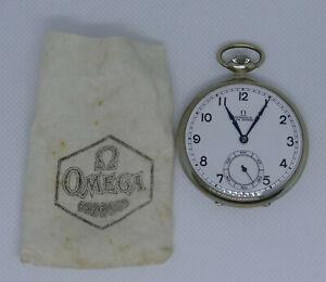 Taschenuhr Omega, neuwertig aus den 1950er Jahre, in Originalverpackung, vintage