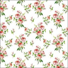 """ambiente Servilletas """"Charlotte """", blanco con rosas en Rosa Rojo Flores"""