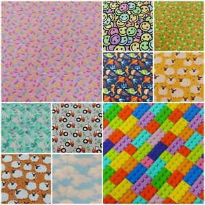 Cotton Jersey Fabric Colourful Children's Patterned Print 4 Way Stretch Knit #2
