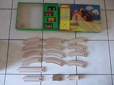 Vintage BRIO Wooden Train set 3125 31404/25 binari railway trenino legno
