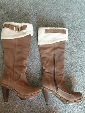 Size 5 Brown Suede Effect Boots