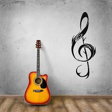 Clef Music Notes Rock&Roll  Positive Mural  Wall Art Decor Vinyl Sticker z654