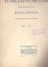 funiculi'-funicula' - spartito musicale 1940