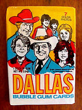 DALLAS TV 1981 LARRY HAGMAN JR EWING BUBBLE GUM CARDS IN PACK