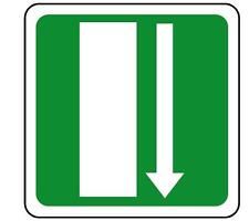 ADESIVO SEGNALETICA uscita di emergenza in basso. STICKER Emergency exit sign