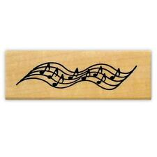 MUSIC STAFF mounted rubber stamp, notes #2
