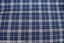 Navy & White Check Designer Craft Dress Fabric £3.99 Free Post