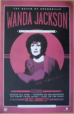 Wanda Jackson - Jack White  THE PARTY AIN'T OVER Promo Poster [2011] VG++