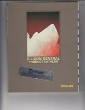 Silicon General product Catalog 1984-85 Book 320 pages /gx