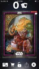 Topps Star Wars Digital Card Trader Purple Jabba Card Trader Illus. Insert