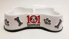 Authentic Disney 101 Dalmatians Porcelain Double Dog Feeding Bowl Plate Rare HTF