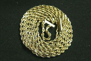 "MICHAEL ANTHONY 24"" LONG 14K YELLOW GOLD DIAMOND CUT ROPE CHAIN 7 GRAMS 1.6 mm"