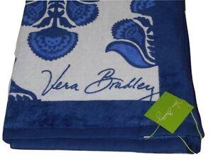 Vera Bradley Beach Towel Cobalt Tile Blue Paisley in Paradise