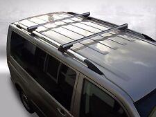 VW T5 Long - Premium aluminium RAILS DE TOIT + Galerie de toit en chrome