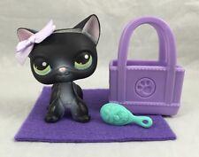 Shorthair Black White Cat 336 Kitty Green Eyes Purse Littlest Pet Shop BLEMISHED