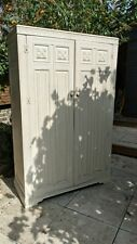 More details for vintage painted white armoire / wardrobe