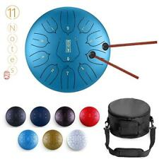 12 Inch 11 Notes Steel Tongue Drum Handpan Hand Drums Tankdrum With Drum Mallets
