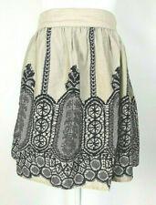 Paraella Skirt Ivory & Brown Black
