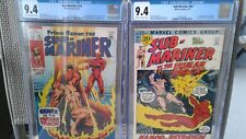 1968 SUBMARINER 14 & 44 CGC (9.4) NM FIGHTS HUMAN TORCH   FANTASTIC FOUR APPEAR