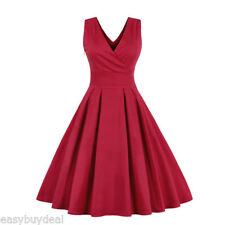 Vintage Womens 1950s Sleeveless Swing Evening Party Retro Rockabilly Long Dress