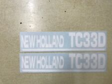 New Holland TC33D decals