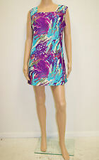 "Vintage 1960's Mod Psychedelic Mini Dress  Size Medium 40""B 36""W 41""H"