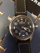 Alpina Men's Startimer Pilot Automatic Blue Dial Big Date 44mm Watch 2 Band