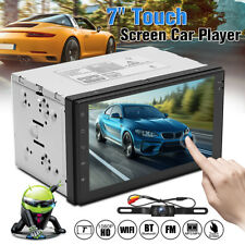 7'' Android 6.0 4G WiFi Double 2DIN Car Radio Stereo Multimedia GPS Navi BT+Cam