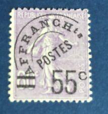 France Paréos N° 47 55/60 C Violet Oblitéré TB Cote 70€