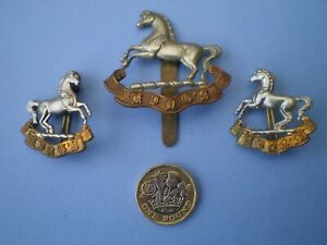 King's Liverpool Regiment Post 1926 Cap and Pair of Collar Badges