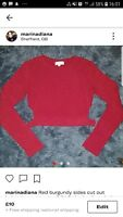 Kitted Cut Out Crop Jumper Size S/M