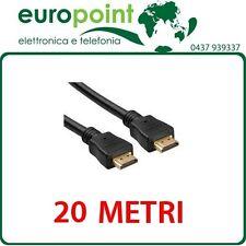 Cavo HDMI da 20mt metri con Ethernet Alta velocità Maschio/Maschio Full HD