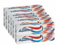 12 X Aquafresh Triple Protection 125ml Family Size Fluoride Toothpaste