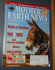 MOTHER EARTH NEWS MAGAZINE DEC/JAN 2003 DONKEYS & MULES PORTABLE SAW MILLS