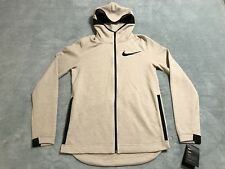 Nike Dry Hyper Elite Showtime Hoodie Jacket Men's sz Small S Beige 856447 235