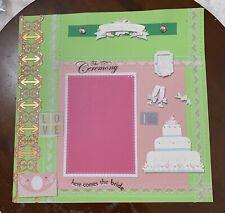Wedding Day-12 x 12 premade scrapbook page