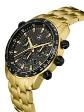 "Mercedes Benz Chronograph Herren Armband uhr "" Gold Edition "" by Swiss made ®"