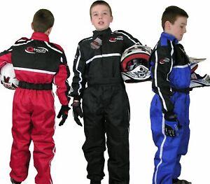 Childrens Kids RACE SUIT Overalls Karting Motocross Racing One Piece Dirt Bike