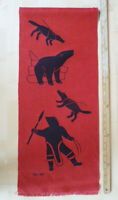 Vintage Inuit Eskimo Art Helen Kalvak Holman Wall Hanging Hand Silk Screen Huntr