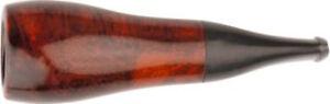 Zigarrenspitze Bruyere Orange / Black - 15 mm Ø - Mundstück Acryl - Stoffbeutel