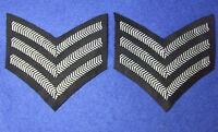 ROYAL AIR FORCE & RAF REGIMENT, SERGEANTS RANK STRIPES, CHEVRONS, PAIR