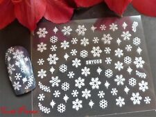 3D Christmas White Snowflakes Nail Art Stickers Decal Xmas Sparkle Shimmer 056x