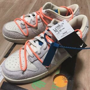 Nike Dunk Low x Off-White 1 Of 50 Lot 19 Shoes Rare US 10 Authentic From JAPAN