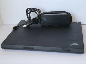 IBM Thinkpad T40 Laptop w/ Power Supply Tested Working Windows XP Pro Fresh Inst
