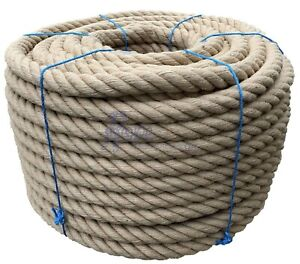 40mm Thick Heavy Duty Jute Rope Twisted Braided Garden Decking Cord 12345678910