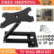TV Wall Mount Bracket Tilt Swivel Flat Plasma LCD LED 10 20 25 30 32 38 40 42 TV