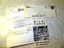 1948 Hotel Rovers Miami Brochure Business Card Letter & Envelope Advertising