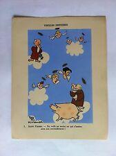 ST PIERRE SANSTICKETS Dessin illustration HENRI MONIER & POL FERJAC HUMOUR 1942