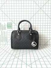 NWT Michael Kors Aria Small Satchel Black Signature MK Crossbody Bag