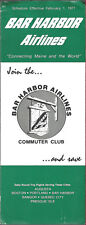 Bar Harbor Airlines system timetable 2/1/77 [6082]